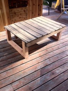 Pallet table I made