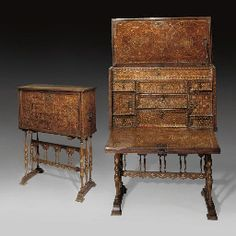 A HISPANO-MORESQUE VARGUENO SPAIN, 16TH CENTURY ON LATER TRESTLE STAND