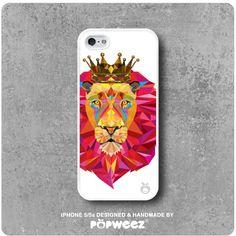 Coque IPhone 5 / 5s Lion Roi Blanc  Envoi Offert dans par POPWEEZ
