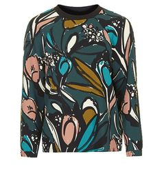 TOPSHOP Sketch Flower Print Sweat and other apparel, accessories and trends. Browse and shop 8 related looks. Fashion Prints, Love Fashion, Winter Fashion, Womens Fashion, Topshop, Motif Floral, Floral Prints, Dedicated Follower Of Fashion, Swagg