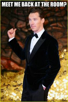 YES GOD PLEASE <--Nervous twittering… fans self… *thud*<----Darling are you okay? Benedict asks