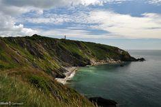 Gribbin Head on the Fowey side of St Austell Bay, Cornwall