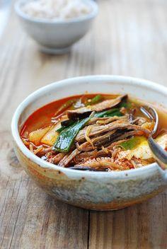 Yukgaejang (Spicy Beef Soup with Vegetables) #Korean