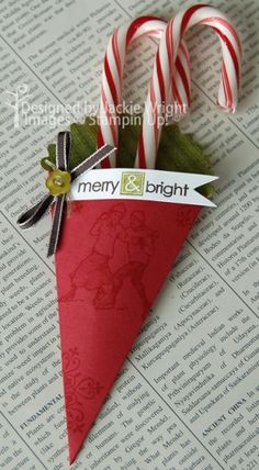 merry & bright candy cane holder - so cute!