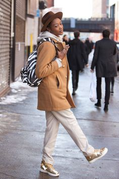 Because we see some of the best looks during fashion week on the sidewalks, not the runways.