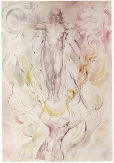 "Illustration by William Blake for Dante's ""Divine Comedy"". Blake received the commission In 1826."