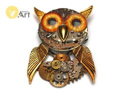 The Owl  (brroche/pendant) by Invent-Art