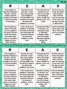 Give Them Choice with Reading Choice Boards - Teaching to Inspire with Jennifer Findley