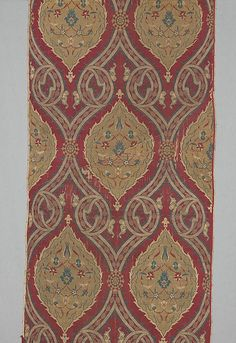 Textile Fragment  Object Name:     Fragment Date:     ca. 1570–80 Geography:     Turkey, probably Istanbul Culture:     Islamic Medium:     Silk, metal wrapped thread; lampas (kemha)