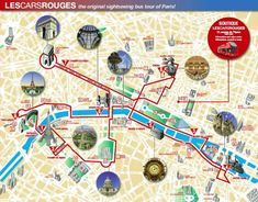les cars rouges map
