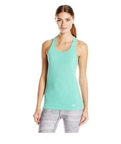 ae077c90ff377 Under Armour Womens Threadborne Seamless Heathered Tank Top XL Green  1286242-190
