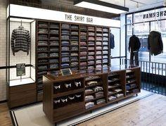 The Shirt Bar by Ben Sherman   Men's Retail Design #clever: