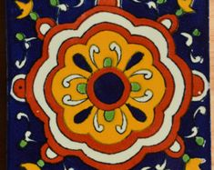 124 Mexican Talavera Tiles handmade Hand painted by MexicanTiles