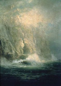 William Trost Richards - American 1833 - 1905. Land's End, Cornwall