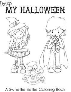 Swhetty Betties Blog Design My Halloween Coloring Book