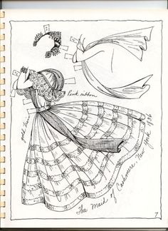 BALLET 19th Century Costumes Book 2 Paper Dolls by Charles Ventura <> 8 of 20
