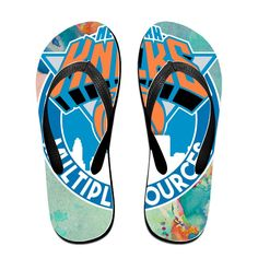 Shehe Go Knicks Unisex Fashion Beach Flip-flops Sandals Black >>> Continue to the product at the image link.