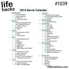 2014 Movie Calendar