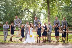 Country Wedding Party...love those dresses!!