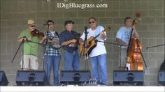 Bill Trusty & Bluegrass Online with a classic Bill Monroe tune at the Old Mill Bluegrass Festival in West Liberty, Kentucky July 13, 2013