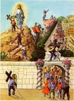 Matthew - Enter ye in at the strait gate: for wideisthe gate and broadisthe way that leadeth to destruction and many there be which go in. Christian Images, Christian Art, Bible Words, Bible Art, Croix Christ, Pictures Of Jesus Christ, Jesus Painting, Jesus Art, Biblical Art