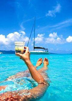 Relax, beach life. Caribbean living.
