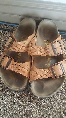 7bd0ed44c2bc Women s BIRKENSTOCK Arizona Woven Braided Sandals sz. 37