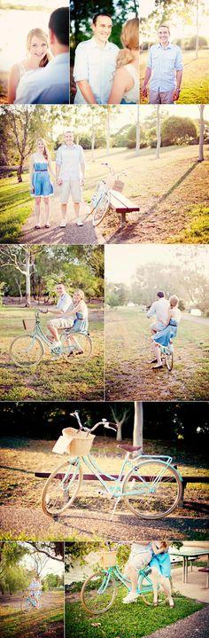 Engagement shoot #bicycle #vintagebicycle #photography #couplephotography http://www.matildabeezley.com