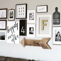 I love this gallery wall! This is my favorite way to do them - art work in similar color palette to complement your space. So simple + so chic  courtesy @lizlovegrowswild  #TidyUpTuesday #GalleryWall #Decor #Design #IHeartDesign #InteriorDesign #InteriorInspiration