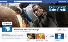 Bosch Blue: Facebook Page for professional handymen in Germany