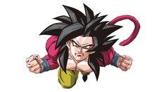Goku Super Sayajin 4 vetorizado em CDR | Vetores Brasil
