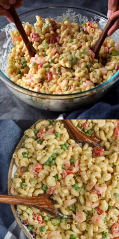 We have 25 Easy Pasta Salad Recipes that are frugal, simple and so tasty. These summer pasta salad recipes are perfect for potlucks, barbecues and more. Broccoli Pasta Salads, Pesto Tortellini, Easy Pasta Salad, Pasta Salad Italian, Easy Salads, Feta Pasta, Shrimp Pasta Salads, Shrimp Salad Recipes, Seafood Recipes