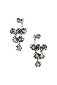 Silver Facet Front And Back Earrings Belly Button Rings, Latest Fashion, Diamond Earrings, Fashion Dresses, Wallis, Clothes For Women, Silver, Jewelry, Style
