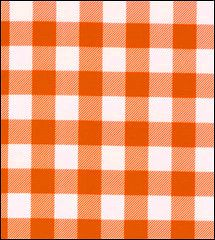 $8.00/yard Pictures of Gingham . Large Orange Oilcloth