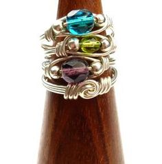 Bead-Wrapped Wire Rings