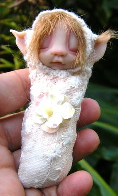 sweet  babee cocoon ooak fairy fairie by throughthemagicdoor, $33.00