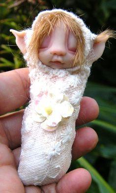 sweet babee cocoon ooak fairy fairie by throughthemagicdoor, $33.00