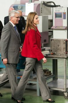 Princes Letizia of Spain visits the Arcos knives factory on February 25, 2014 in Albacete, Spain.