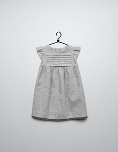 Sewing Baby Girl dress with lace trim on hem - Dresses - Baby girl months) - Kids - ZARA United States - Fashion Kids, Little Girl Fashion, Little Girl Dresses, Girls Dresses, Baby Dress, The Dress, Moda Kids, Diy Vetement, Baby Kind