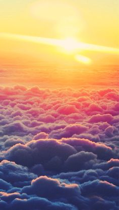 Imagen de clouds, sun, and sunset