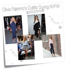 """""""Olivia Palermo's Outfits During NYFW"""" by konstantinaaabour ❤ liked on Polyvore featuring Post-It"""