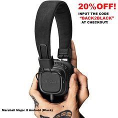 Marshall Major, Pitch, Sling Backpack, Smart Watch, Luxury Fashion, Headphones, Black, Android, Free