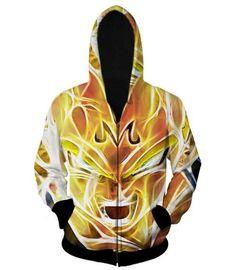 Dragon Ball Z – Super Saiyan Majin Vegeta 3D Zip Up Hoodie