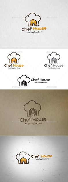 Chef House  Logo Template — Vector EPS #bistro #cuisine • Available here → https://graphicriver.net/item/chef-house-logo-template/12451292?ref=pxcr