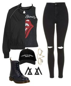"""""""Black is my favorite Color"""" by zodiaccancer on Polyvore featuring Topshop, Ivy Park, Dr. Martens, Manolo Blahnik and Lipsy"""