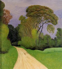 The Entrance to the Villa Beaulieu in Honfleur (also known as Before the Storm) - Felix Vallotton - 1916