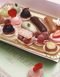 Laduree pastries - if you are in Paris at any point, you simply must visit La Durée on the Champs Elysées.