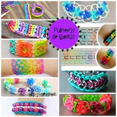 Personalized Photo Charms Compatible with Pandora Bracelets. 40 Rainbow Loom Tutorials and Ideas - Becoming Martha Rainbow Loom Tutorials, Rainbow Loom Patterns, Rainbow Loom Creations, Rainbow Loom Bands, Rainbow Loom Bracelets, Loom Bands Designs, Loom Band Patterns, Loom Bracelet Patterns, Loom Love