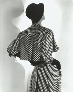 Jean Patchett - 1949 - Checkered Suit by Balenciaga - Photo by Horst P. Horst (German-American, 1906-1999)