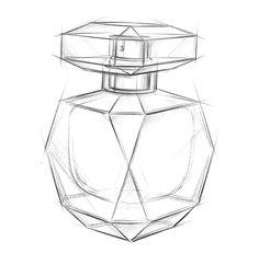 Boceto de la botella de Elie Saab, le parfum.
